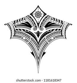 Polynesian style ornament, good for back tattoo or sleeve pattern