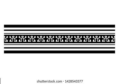 polynesian tattoo line pattern, tribal pattern tattoo, aboriginal samoan band, maori seamless art bracelets ornament, maori black and white texture border, ethnic ornament tribal band