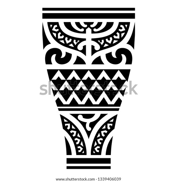 Polynesian Tattoo Wrist Sleeve Tribal Pattern Stock Vector Royalty