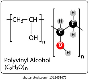 Polyvinyl Alcohol Molecule Structure