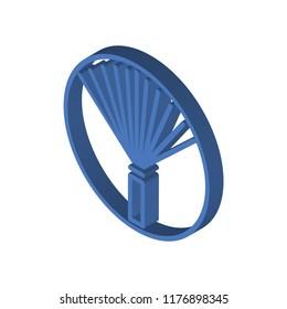 Pom pom isometric left top view 3D icon