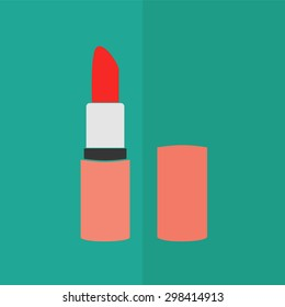 pomade lipstick vector icon. Flat design