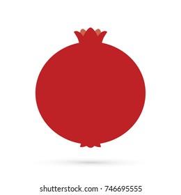 Pomegranate fruit graphic vector