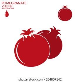 Pomegranate. Set. Vector illustration
