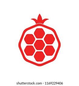 pomegranate simple icon