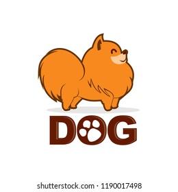 Pomeranian dog logo vector, icon