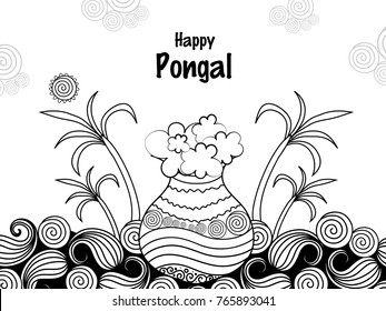 Pongal Thai Pongal Tamil Harvest Festival Stock Vector (Royalty Free ...