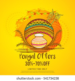 Pongal,sale banner or poster background.