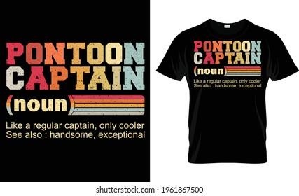 Pontoon Captain Noun T Shirt Design