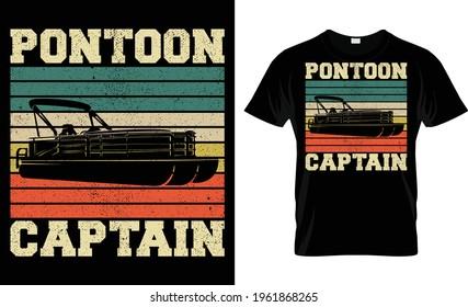 Pontoon Captain T Shirt Design