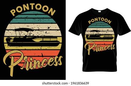 Pontoon Princess T Shirt Design