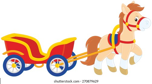 Pony with a cart