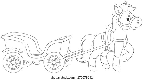 A Horse With A Cart Stock Illustrations Images Vectors