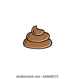 poo doodle icon