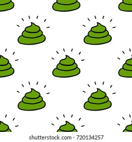 poo seamless doodle pattern