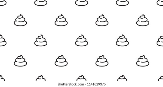 Poo Seamless pattern vector Cartoon isolated doodle illustration wallpaper tile background