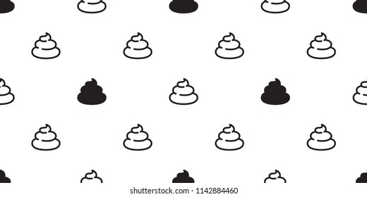 Poo Seamless pattern vector Cartoon isolated doodle illustration tile background wallpaper