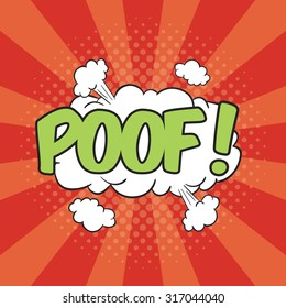POOF! Wording Sound Effect for Comic Speech Bubble