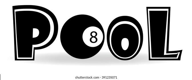 Pool 8 Ball label