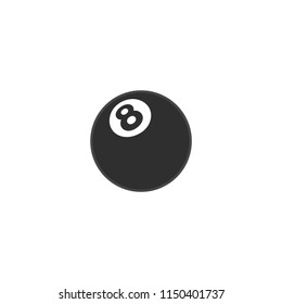 Pool 8 Ball Vector Icon