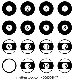 Pool Ball, Billiard Or Snooker Balls