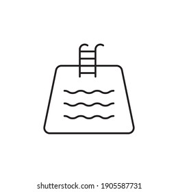 pool icon outline style design. pool vector illustration. isolated on white background
