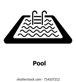 Pool icon. Simple illustration of pool vector icon for web