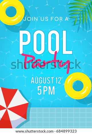 pool party invitation vector illustration top のベクター画像素材