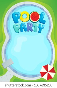 Pool party theme image 1 - eps10 vector illustration.