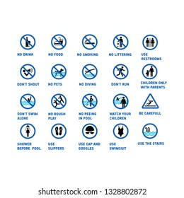 pool rules set icon on a white background