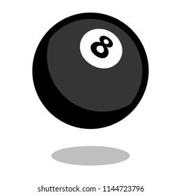 Pool snooker billiard cue sport ball logo vector line 3d icon