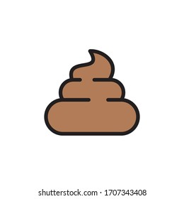 Poop Icon In Trendy  Design Vector Eps 10