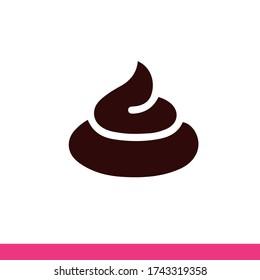 Poop icon vector. Flat illustration.