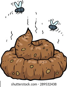 Poop on a white background vector illustration