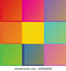 Pop Art Andy Warhol background illustration with dots