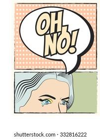 pop art background, illustration in vector format. OH NO!