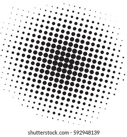 Pop Art Black And White Dots Comic Background Vector Template Design