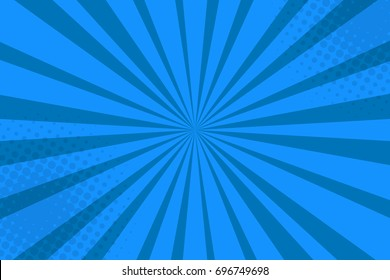 Pop art blue background.