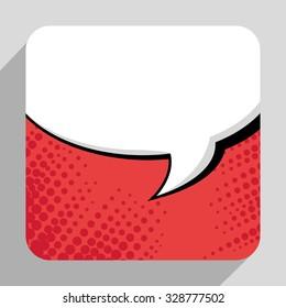 Pop art bubble comic graphic design, vector eps10.
