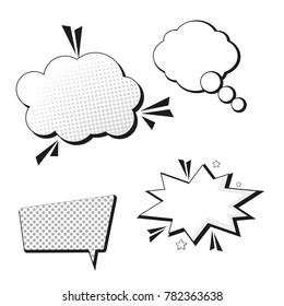 Pop art bubble design