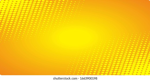 Pop art comic background with dots. Cartoon Vector Illustration on yellow