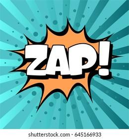 Pop art comic bubbles design. Vector illustration. ZAP!