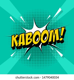 Pop art comic with kaboom text, vector illustration