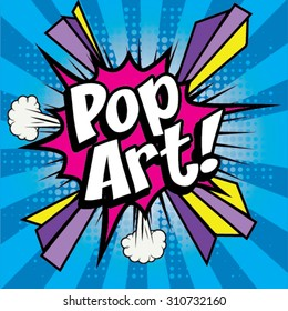 "Pop Art comics icon ""PopArt!"". Speech Bubble Vector illustration."
