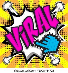 "Pop Art comics icon ""Viral!"". Speech Bubble Vector illustration."
