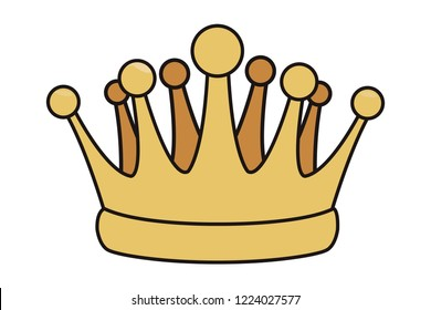 pop art crown cartoon