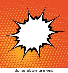 Pop art design over pointed background, vector illustration