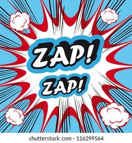 Pop Art explosion Background Zap Zap!