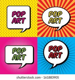 pop art explosion over colorful  background. vector illustration