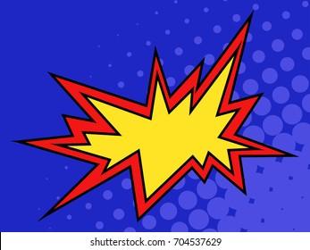 Pop art explosion.Vector illustration.